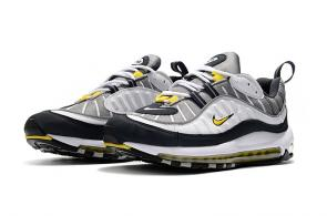 nike drops muted air max 98 yellow logo white